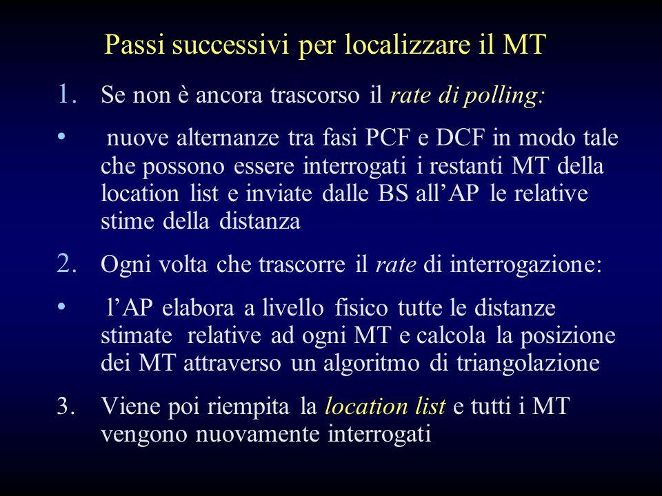 1. Se non è ancora trascorso il rate di polling: nuove alternanze tra fasi PCF e DCF in modo tale che possono essere interrogati i restanti MT della l