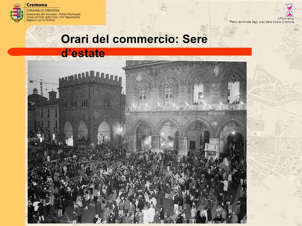 Ufficio tempi Piano territoriale degli orari della città di Cremona Orari del commercio: Sere d'estate