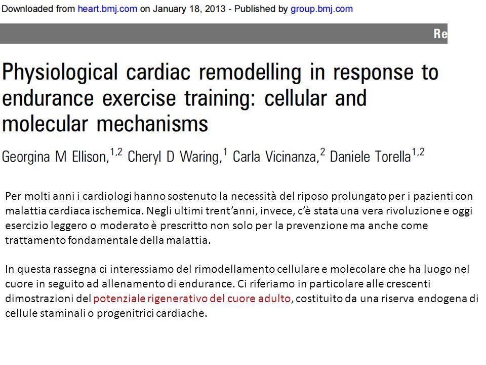 Per molti anni i cardiologi hanno sostenuto la necessità del riposo prolungato per i pazienti con malattia cardiaca ischemica.