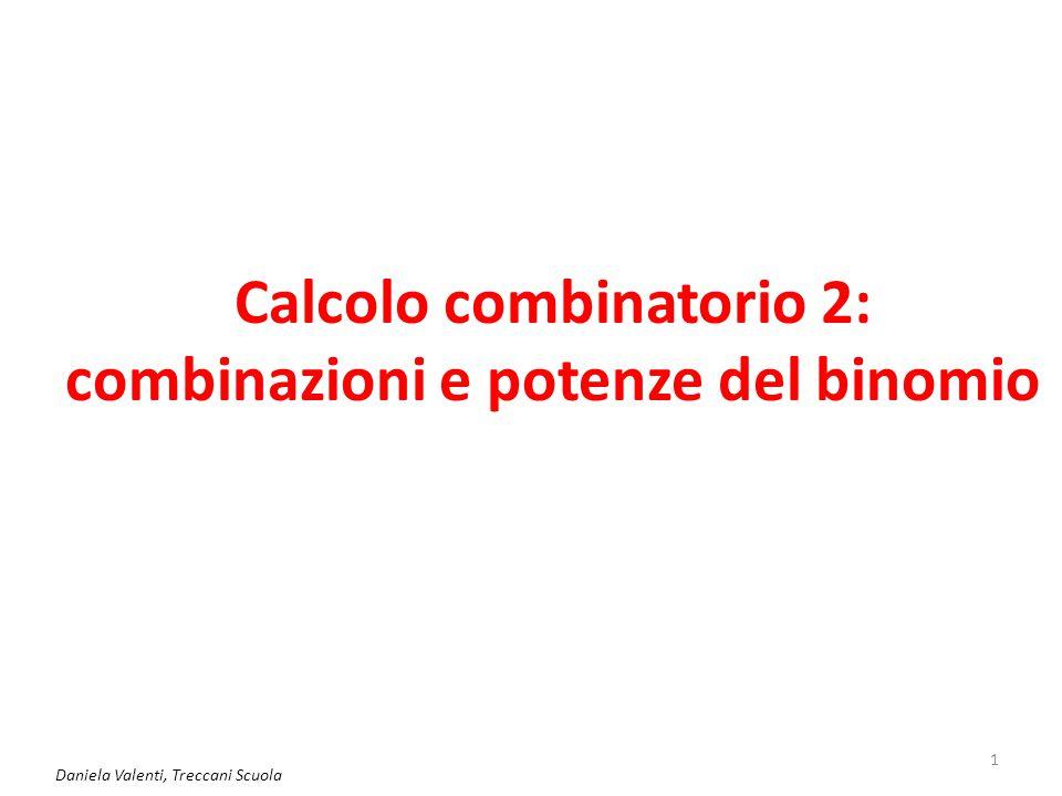 Calcolo combinatorio 2: combinazioni e potenze del binomio Daniela Valenti, Treccani Scuola 1