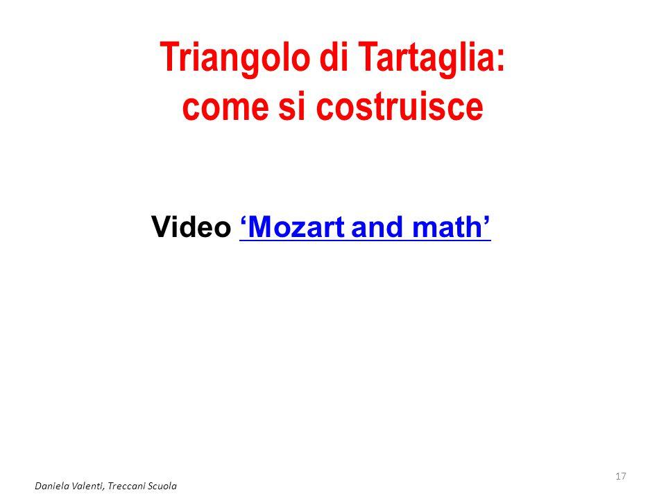 Daniela Valenti, Treccani Scuola 17 Triangolo di Tartaglia: come si costruisce Video 'Mozart and math''Mozart and math'