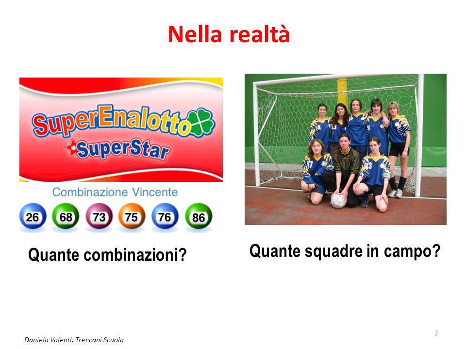 2 Nella realtà Quante combinazioni? Quante squadre in campo?