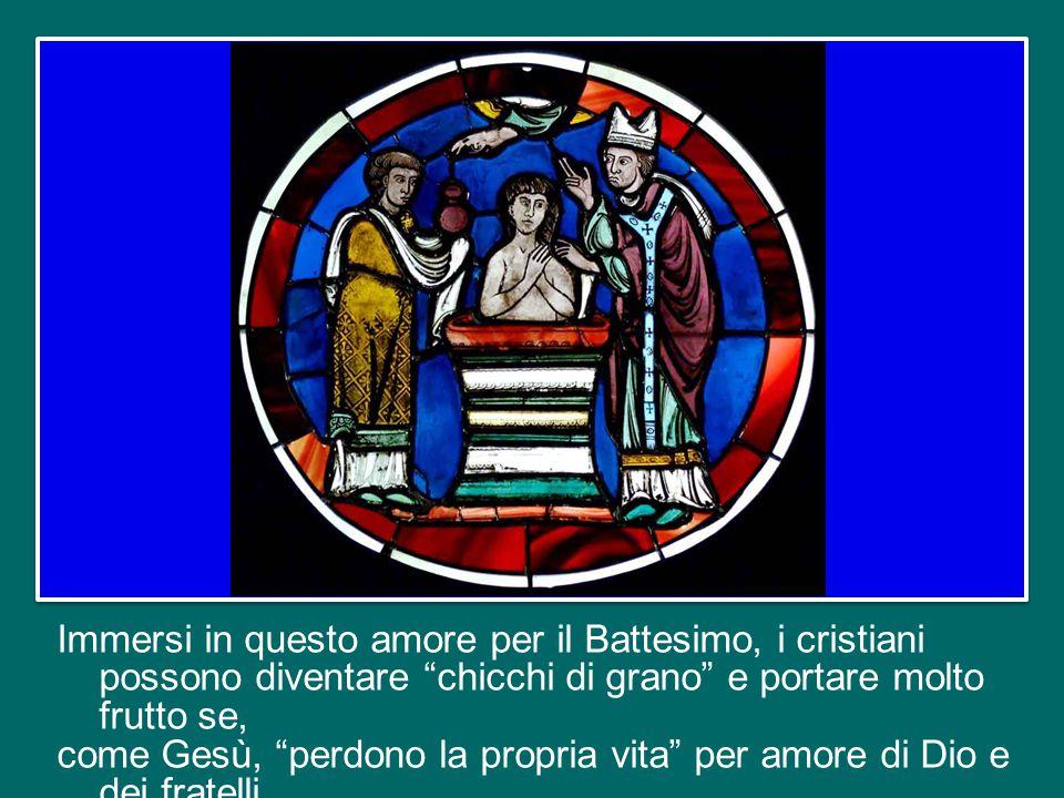 In questa immagine troviamo un altro aspetto della Croce di Cristo: quello della fecondità.