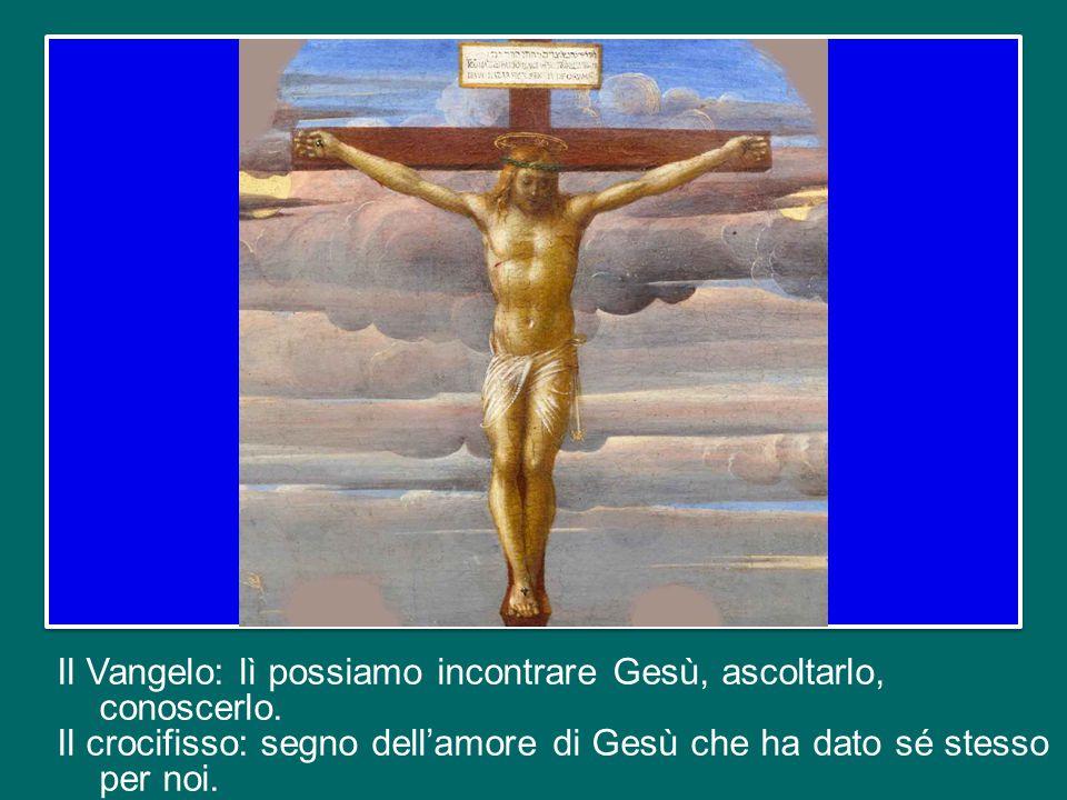 a tutte queste persone possiamo offrire tre cose: il Vangelo; il crocifisso e la testimonianza della nostra fede, povera, ma sincera.