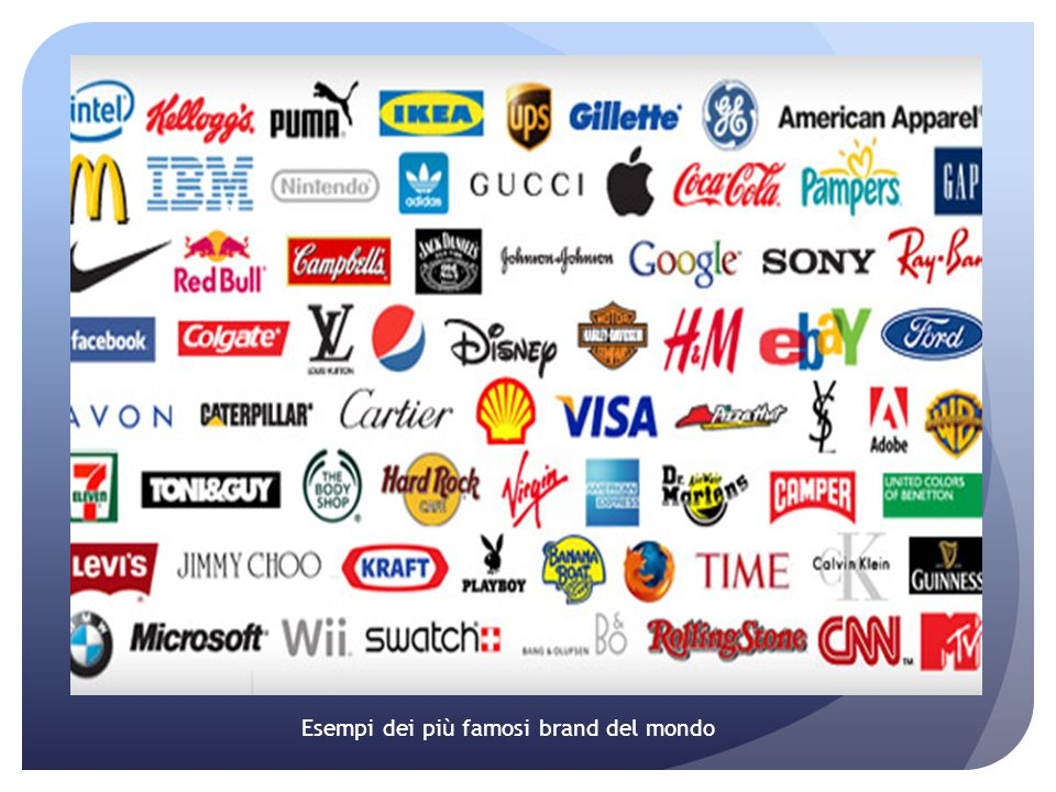 Esempi dei più famosi brand del mondo