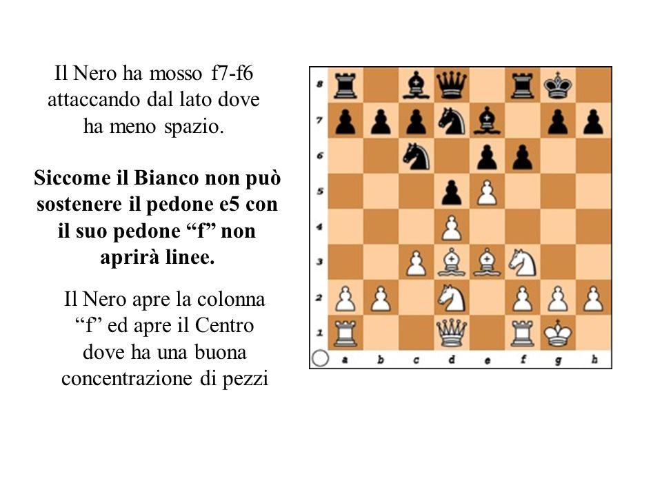 Il Nero ha mosso f7-f6 attaccando dal lato dove ha meno spazio.