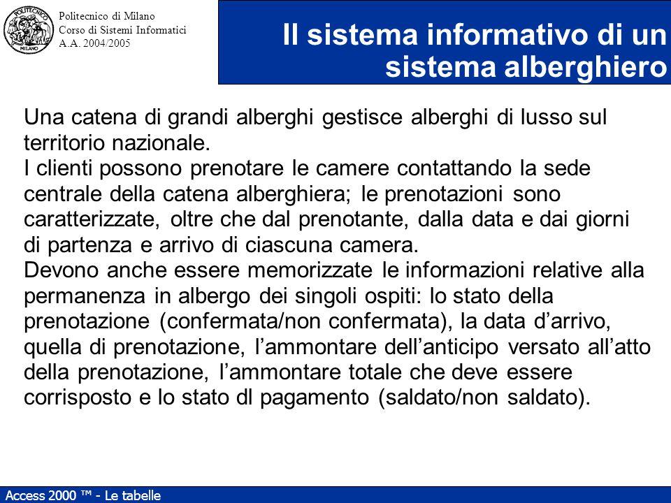 Politecnico di Milano Corso di Sistemi Informatici A.A.