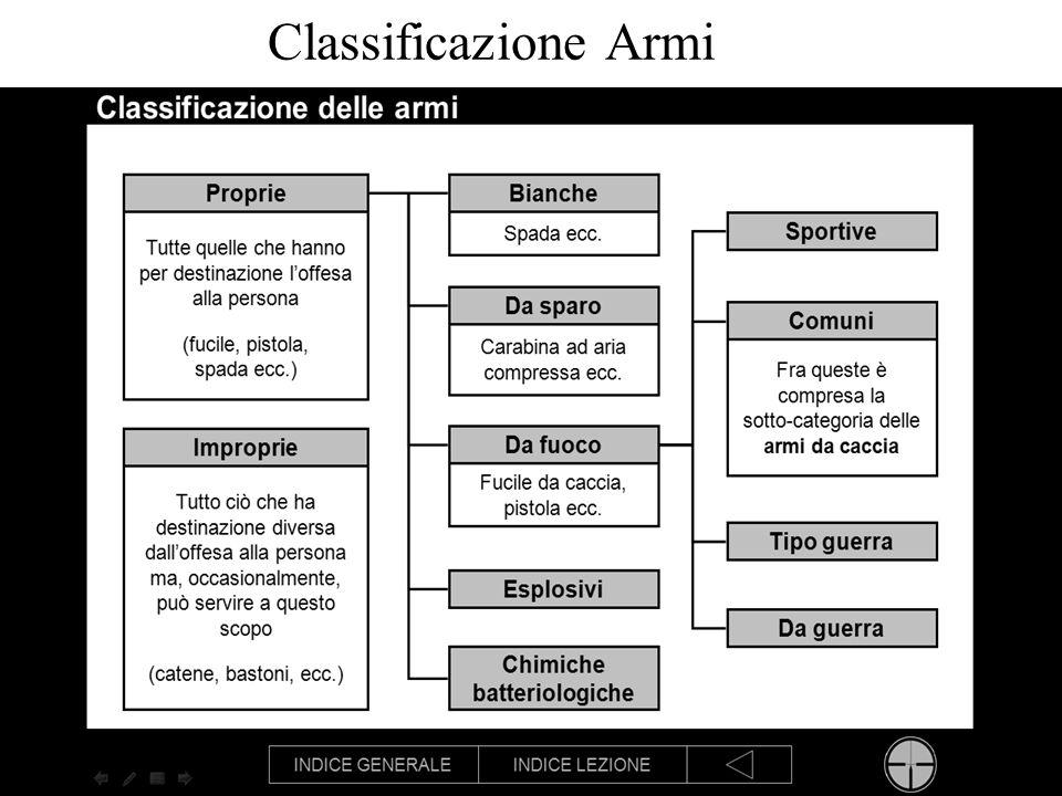 Classificazione Armi