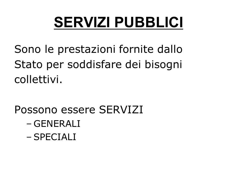 TASSE Somme che i cittadini pagano quando richiedono un servizio speciale (divisibile).