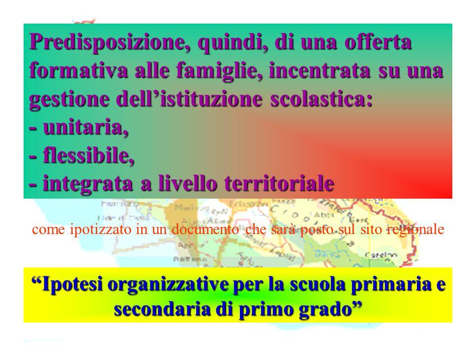 """Isp. Marco Riva """"Ipotesi organizzative per la scuola primaria e secondaria di primo grado"""" Predisposizione, quindi, di una offerta formativa alle fami"""
