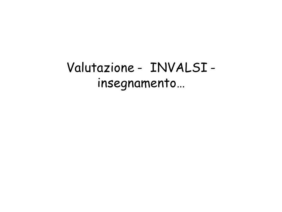 Valutazione - INVALSI - insegnamento…