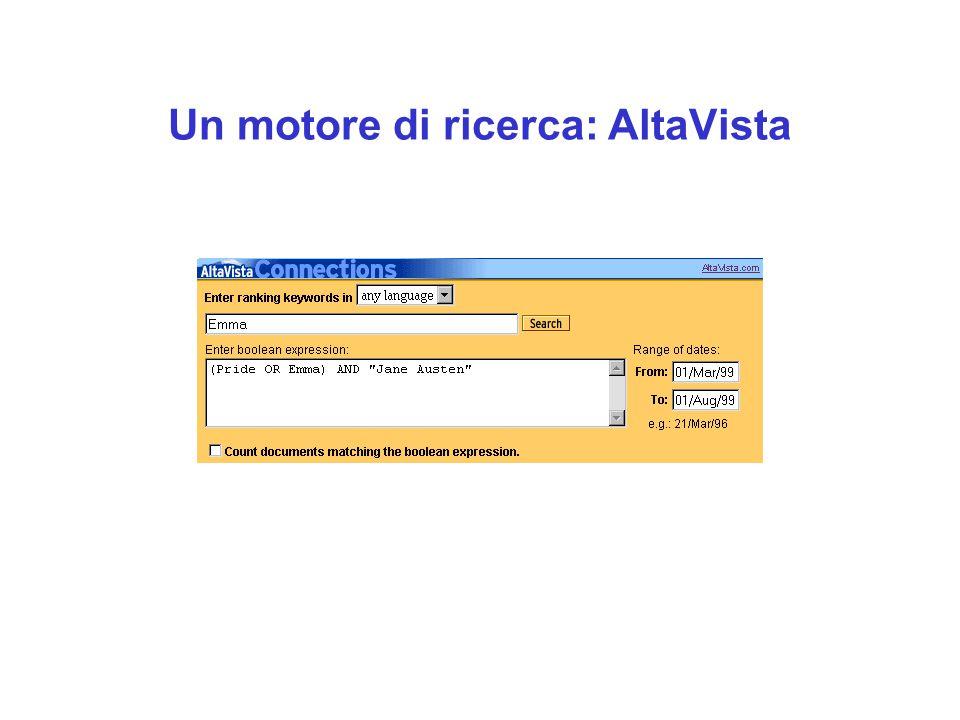 Un motore di ricerca: AltaVista
