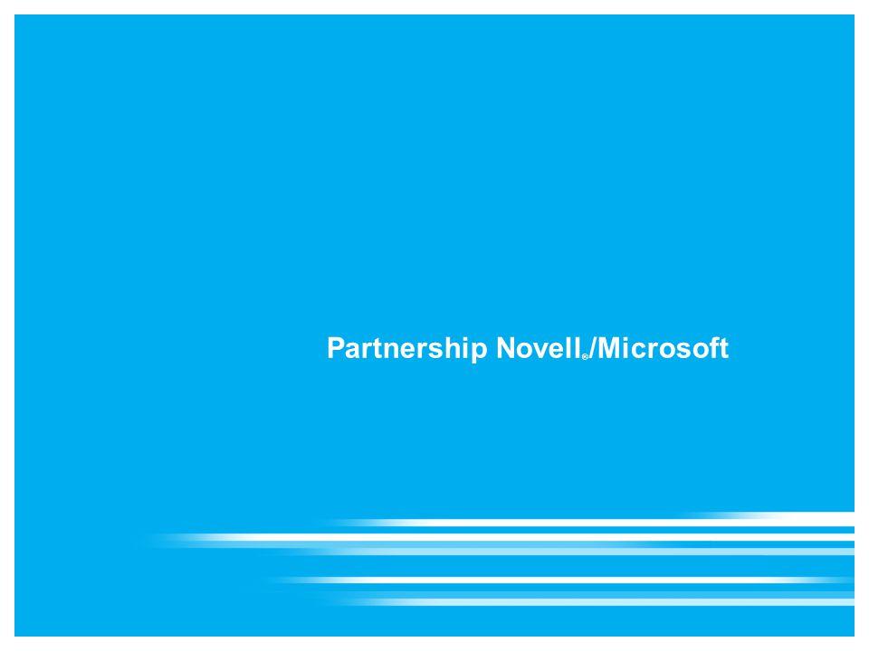 Partnership Novell ® /Microsoft