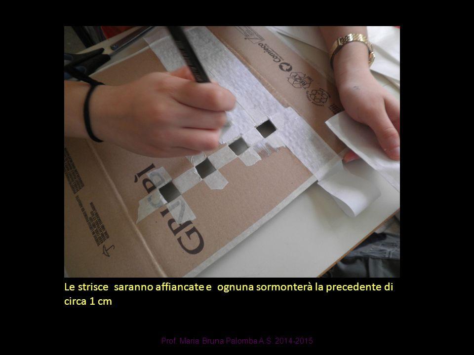 Prof. Maria Bruna Palomba A.S. 2014-2015 Le strisce saranno affiancate e ognuna sormonterà la precedente di circa 1 cm