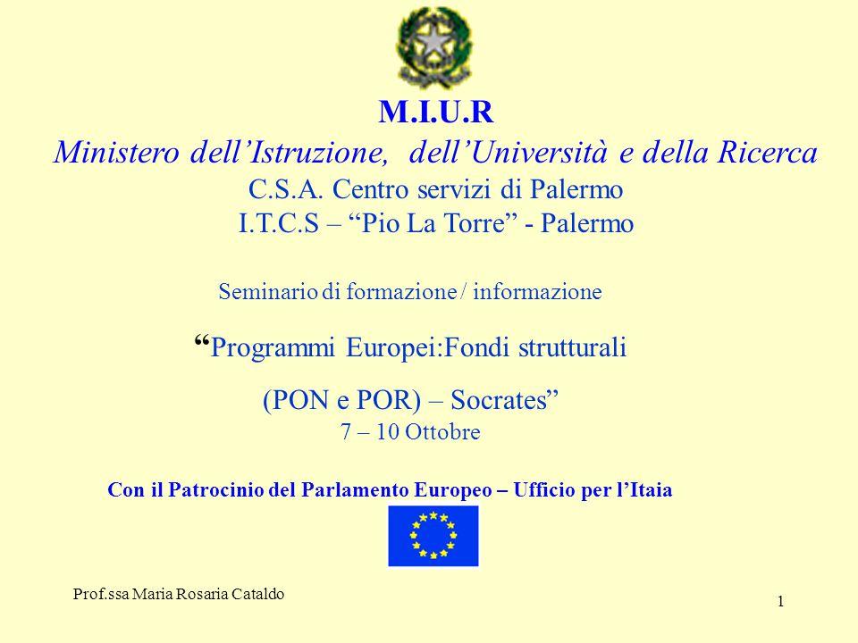 1 M.I.U.R Ministero dell'Istruzione, dell'Università e della Ricerca C.S.A.