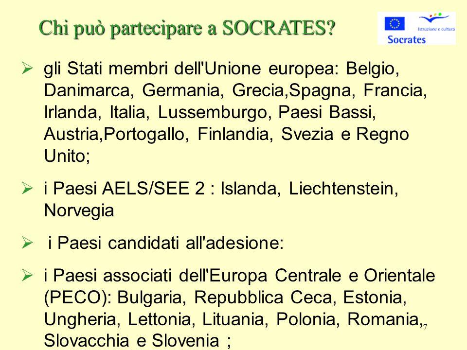 7 Chi può partecipare a SOCRATES.