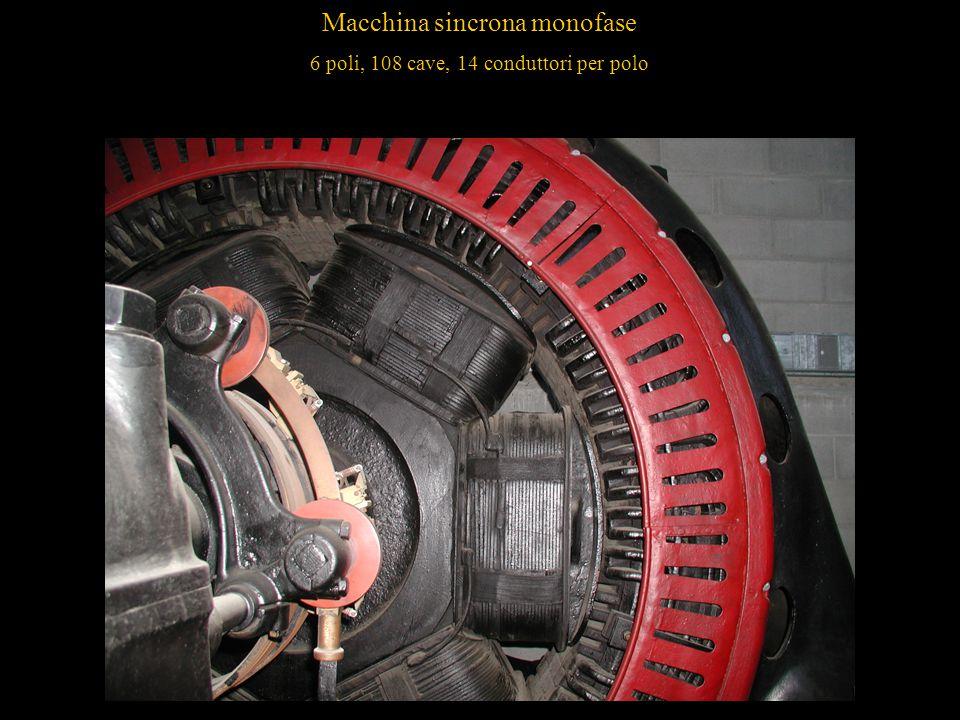 13 Macchina sincrona monofase 6 poli, 108 cave, 14 conduttori per polo