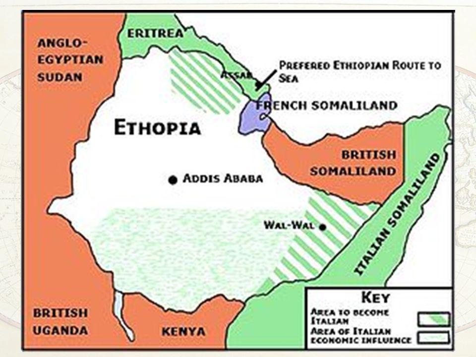 L'aggressione italiana all'Etiopia Forte movimento di protesta in Gran Bretagna e in parte anche in Francia (l'Etiopia ERA membro della SdN!) Ricorso