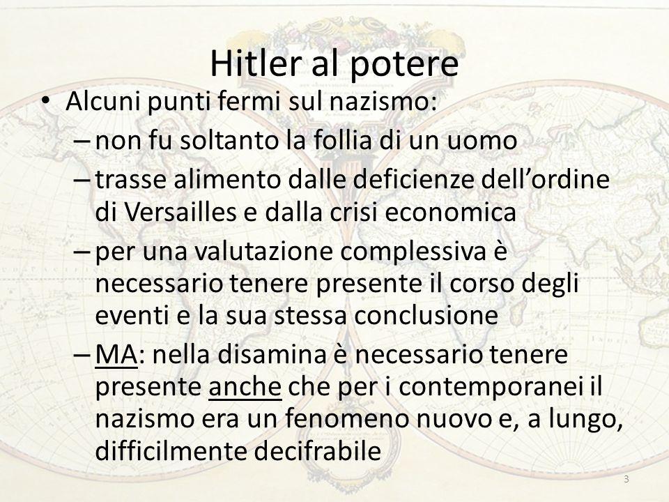 La fine dell'ordine di Versailles Marzo 1935: Hitler annuncia la reintroduzione della coscrizione obbligatoria Incontro tra Mussolini, Laval e Mac Donald a Stresa: reazione debole al gesto hitleriano.