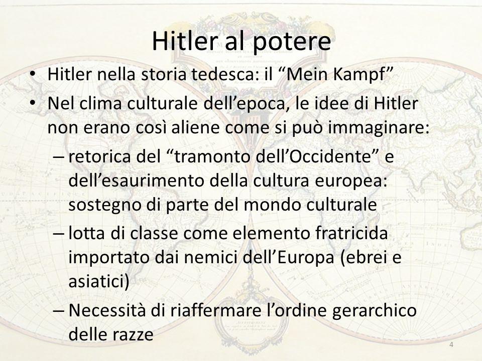 """Hitler al potere Hitler nella storia tedesca: il """"Mein Kampf"""" Nel clima culturale dell'epoca, le idee di Hitler non erano così aliene come si può imma"""