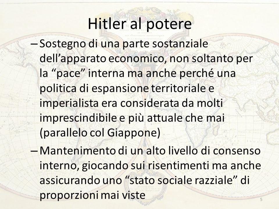 """Hitler al potere – Sostegno di una parte sostanziale dell'apparato economico, non soltanto per la """"pace"""" interna ma anche perché una politica di espan"""