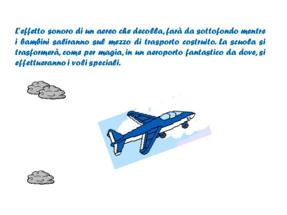 Faremo costruire ai bambini un grande aereo di cartone che, decorato con tempere a dita e pennarelli, diventerà il mezzo di trasporto utilizzato per scoprire nuovi mondi sonori.