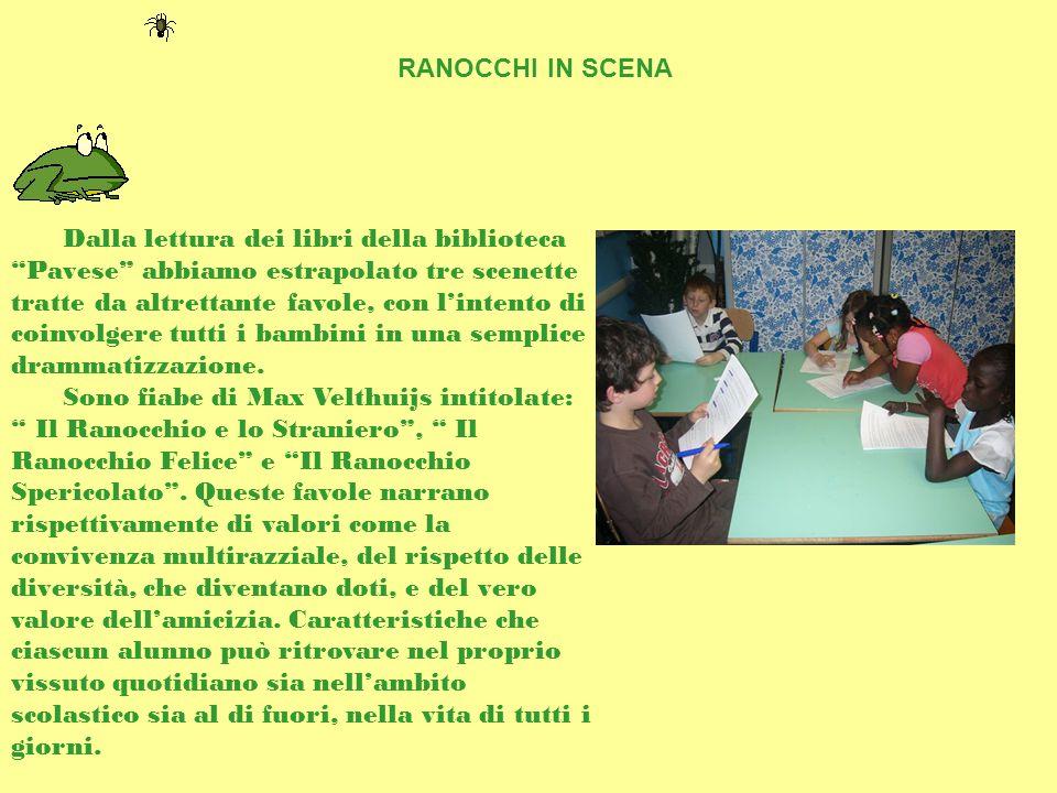 Dalla lettura dei libri della biblioteca Pavese abbiamo estrapolato tre scenette tratte da altrettante favole, con l'intento di coinvolgere tutti i bambini in una semplice drammatizzazione.