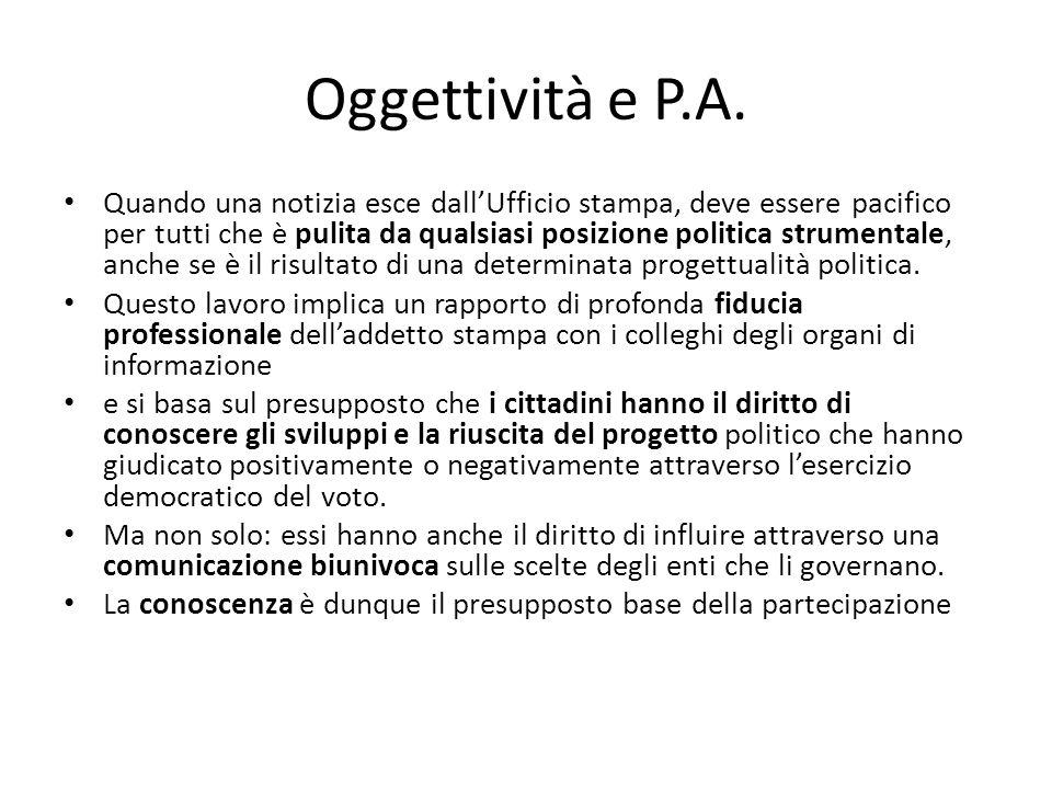Oggettività e P.A.