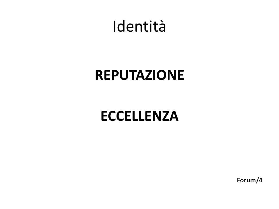 Identità REPUTAZIONE ECCELLENZA Forum/4