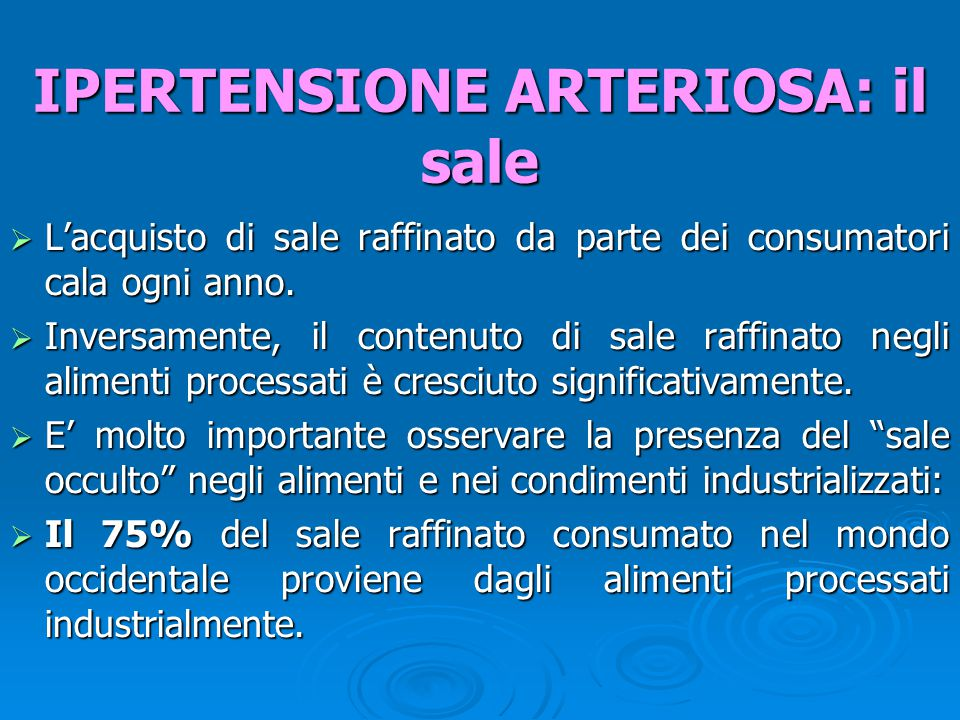  L'acquisto di sale raffinato da parte dei consumatori cala ogni anno.