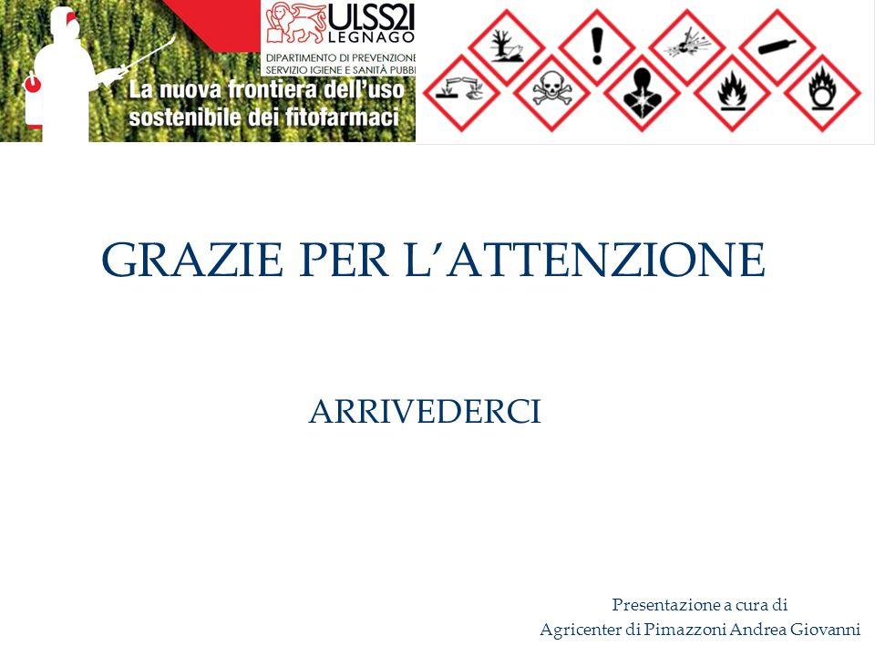 GRAZIE PER L'ATTENZIONE ARRIVEDERCI Presentazione a cura di Agricenter di Pimazzoni Andrea Giovanni