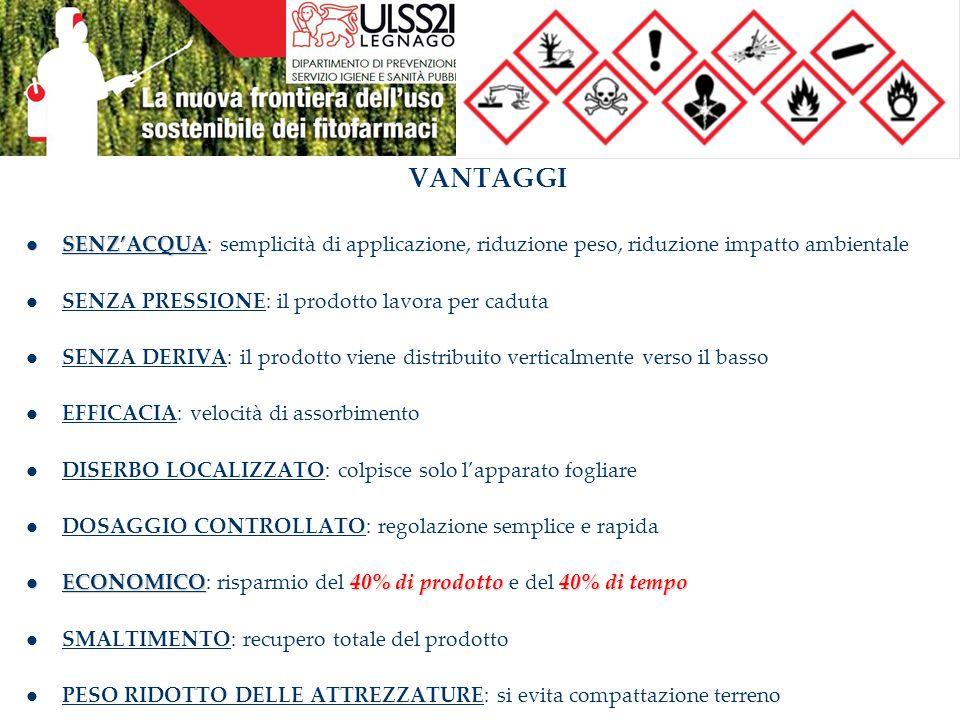 VANTAGGI SENZ'ACQUA SENZ'ACQUA: semplicità di applicazione, riduzione peso, riduzione impatto ambientale SENZA PRESSIONE: il prodotto lavora per cadut