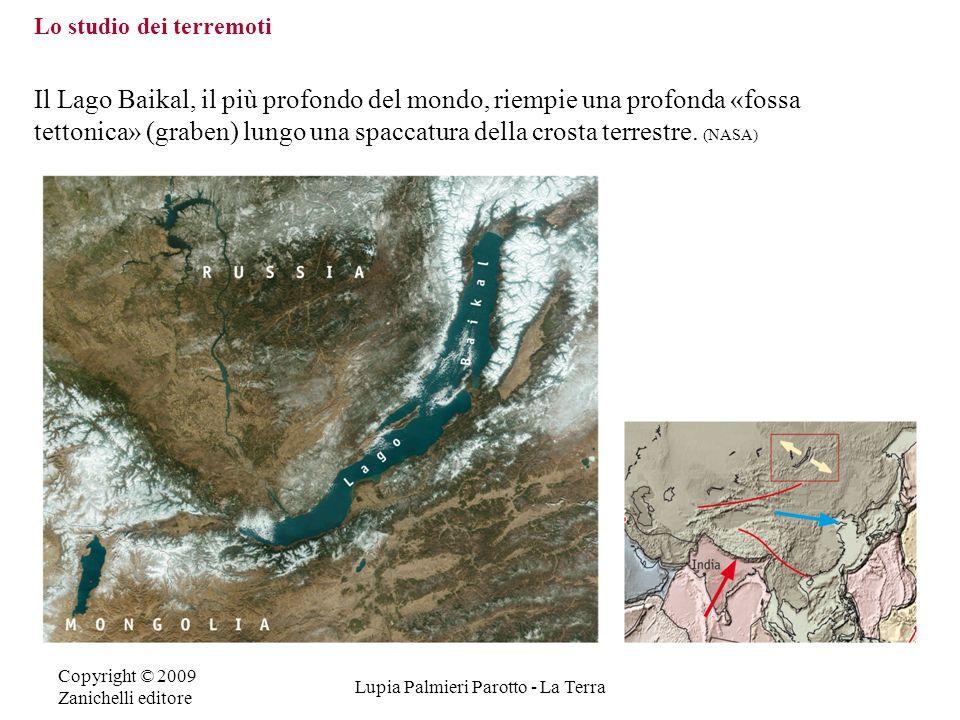 Copyright © 2009 Zanichelli editore Lupia Palmieri Parotto - La Terra Lo studio dei terremoti Il Lago Baikal, il più profondo del mondo, riempie una p