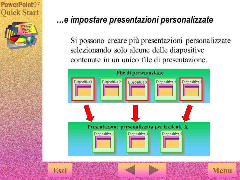 È possibile salvare tutte le diapositive in un unico file... EsciMenu