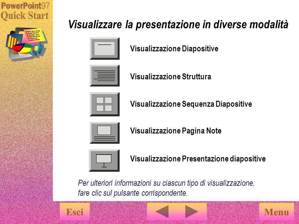 Per passare rapidamente da una visualizzazione all altra, utilizzare i pulsanti corrispondenti posti nella parte inferiore dello schermo.