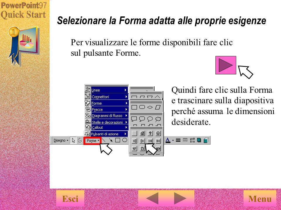 Le Forme create costituiranno i componenti di diagrammi o illustrazioni.