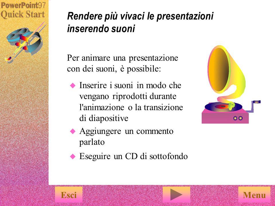 …per controllare la sequenza e gli intervalli di tempo delle animazioni e scegliere altri effetti speciali.