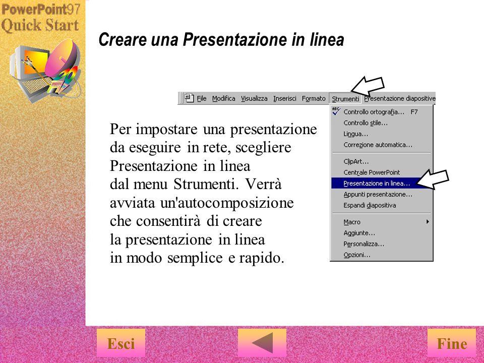 Esiste un altro modo per eseguire una presentazione...
