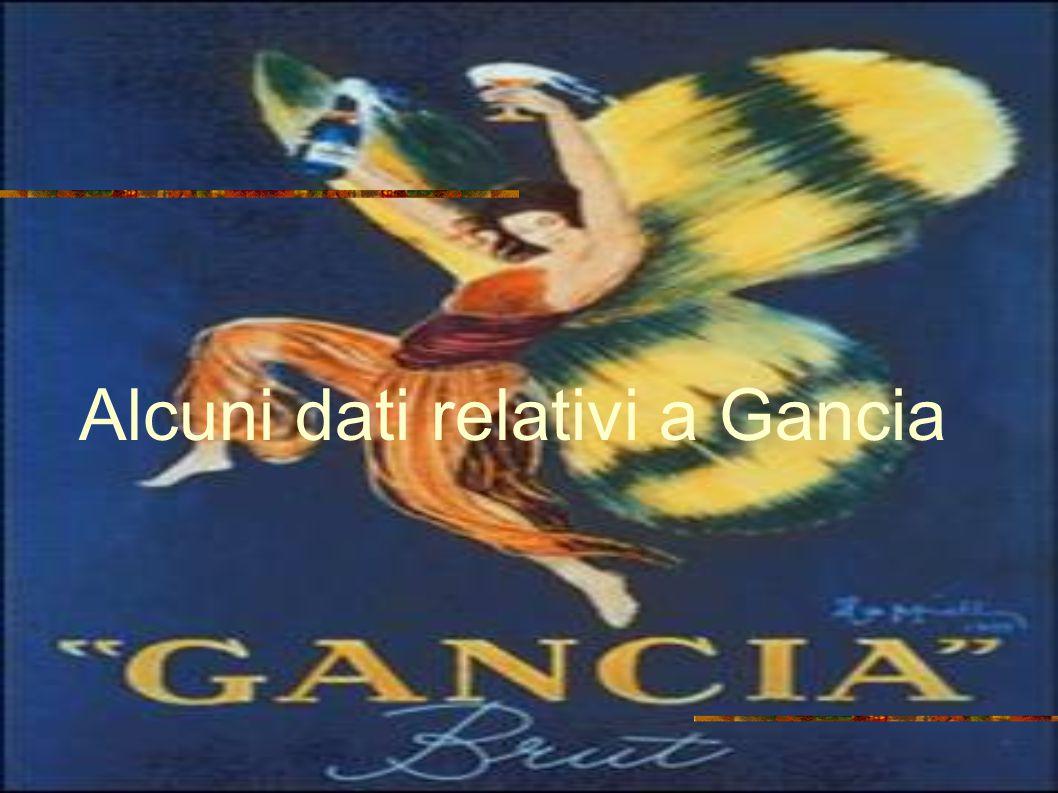 Alcuni dati relativi a Gancia