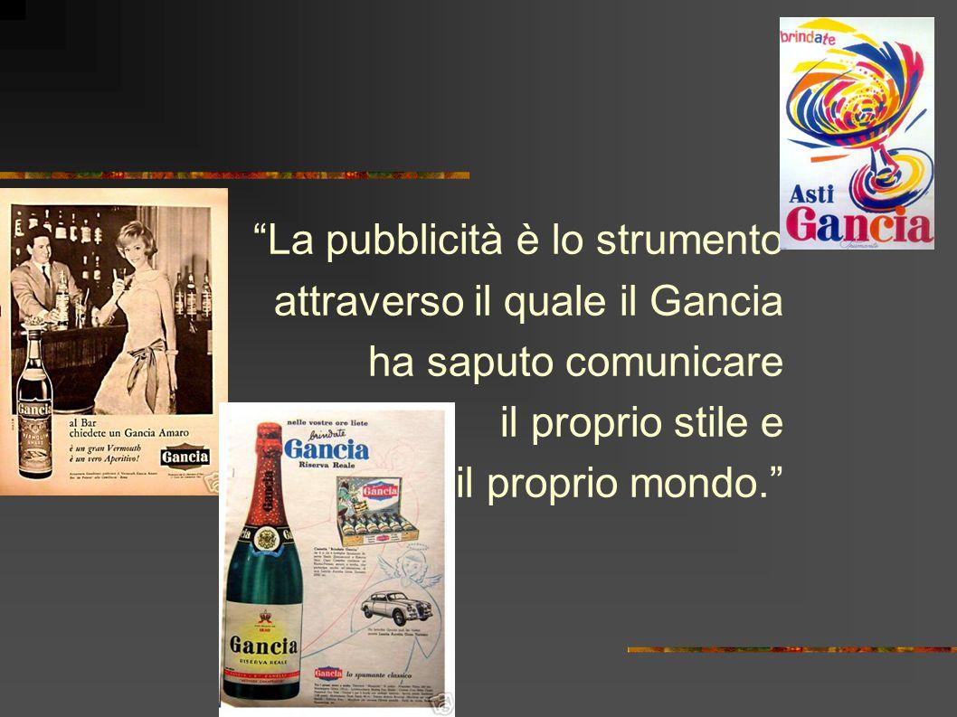 La pubblicità è lo strumento attraverso il quale il Gancia ha saputo comunicare il proprio stile e il proprio mondo.
