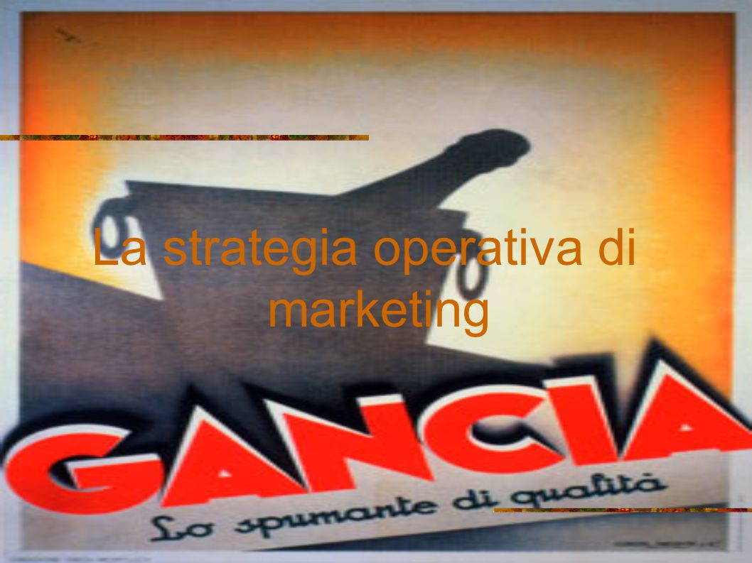 La strategia operativa di marketing
