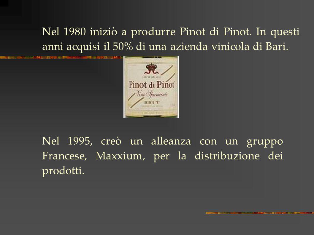 Nel 1980 iniziò a produrre Pinot di Pinot.