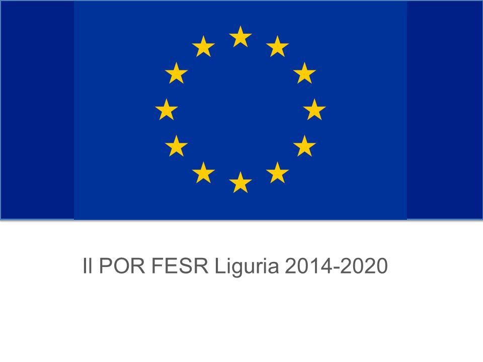 Il POR FESR Liguria 2014-2020