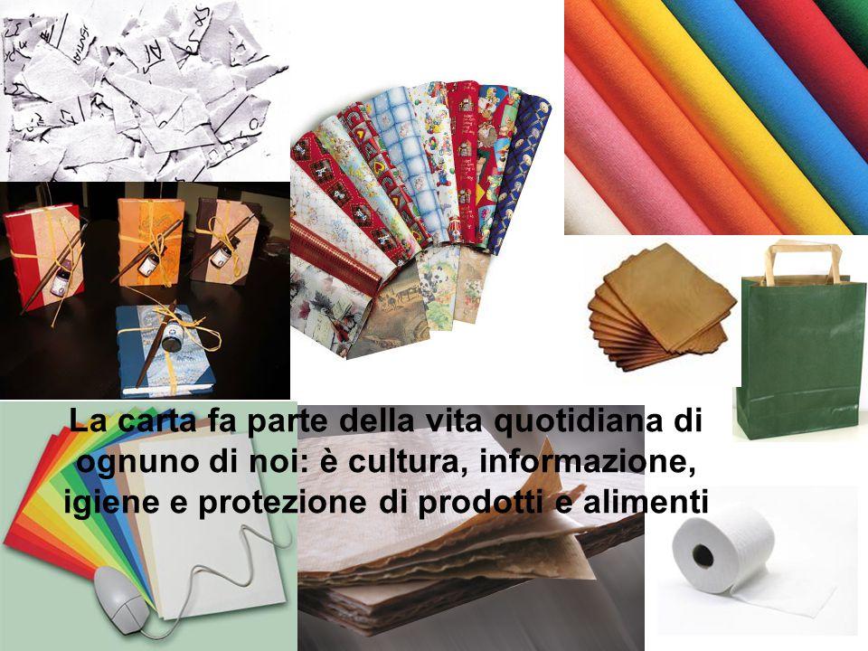 La carta fa parte della vita quotidiana di ognuno di noi: è cultura, informazione, igiene e protezione di prodotti e alimenti
