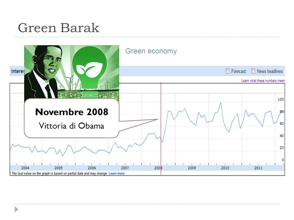 Green Barak Novembre 2008 Vittoria di Obama Green economy