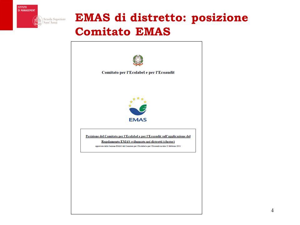EMAS di distretto: posizione Comitato EMAS 4