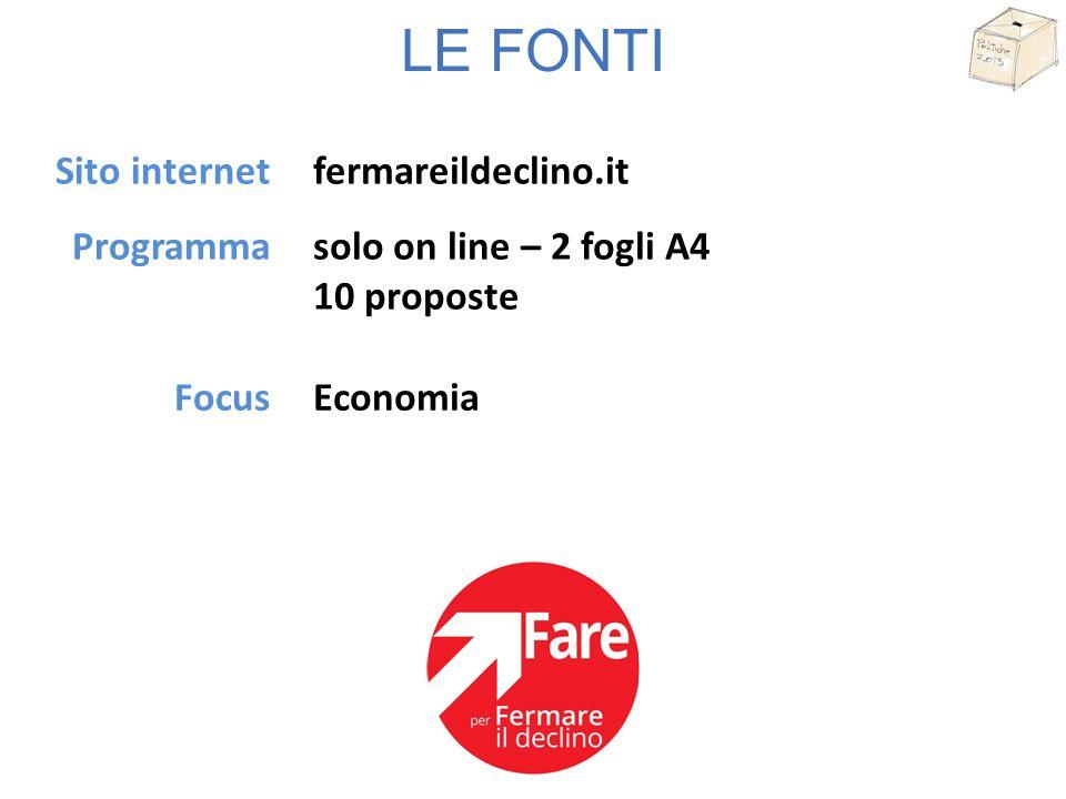 LE FONTI Sito internet Programma pdl.it 35 fogli A4 23 punti Imprenditoria - FiscoFocus