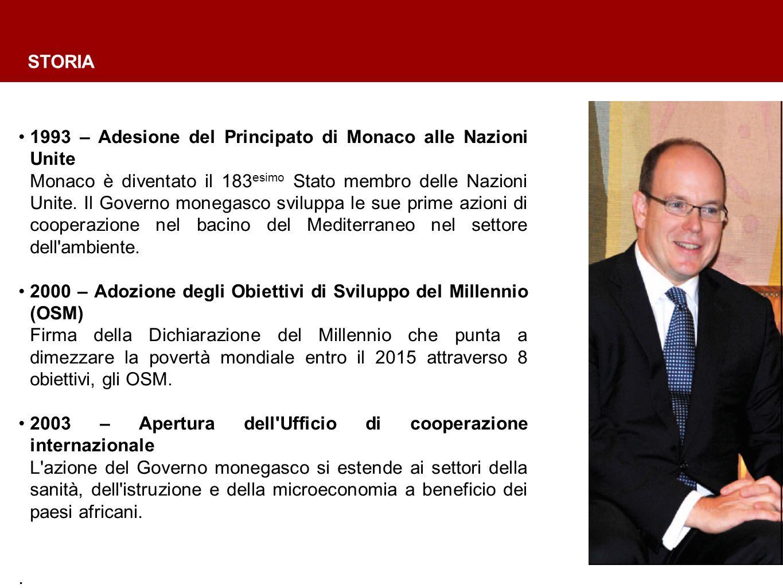 1993 – Adesione del Principato di Monaco alle Nazioni Unite Monaco è diventato il 183 esimo Stato membro delle Nazioni Unite.