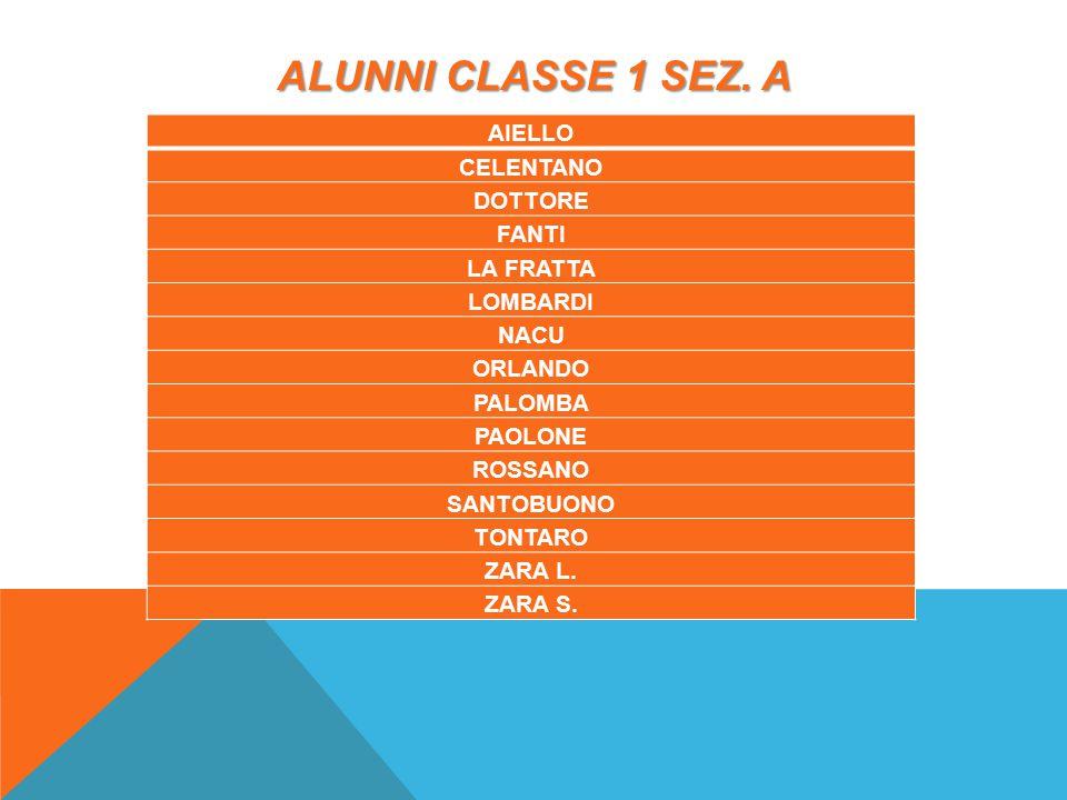 ALUNNI CLASSE 1 SEZ.B ANTONINO BUCCI D ADAMO D ALESSANDRO DE LUCA DI GIACOMO b.