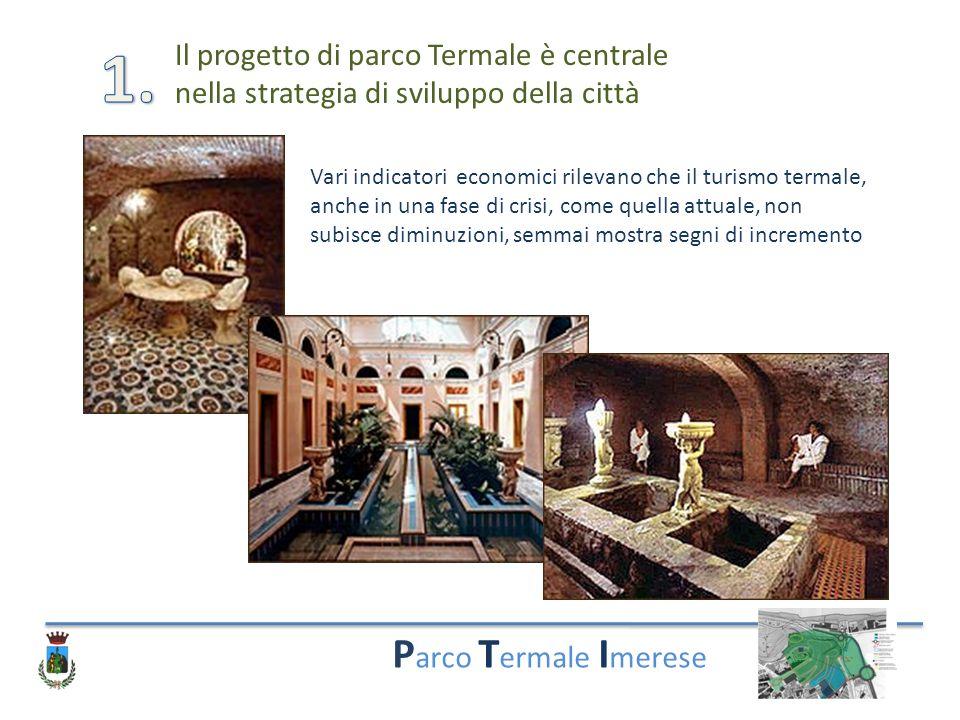 P arco T ermale I merese Il progetto di parco Termale è centrale nella strategia di sviluppo della città Vari indicatori economici rilevano che il tur